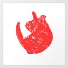 Liliane - Cat colour rint Art Print
