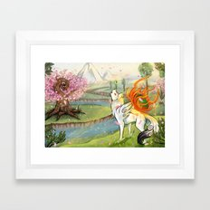 Okami Amaterasu Framed Art Print