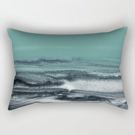 watercolor landscape Rectangular Pillow