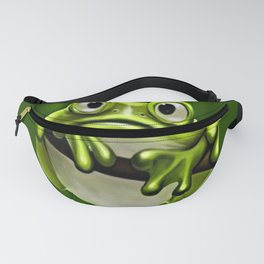 Adorable Funny Cute Green Frog In Tree Fanny Pack