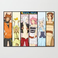 Tropic Mews Poster Canvas Print