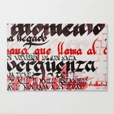 Calligraphic poster V Canvas Print