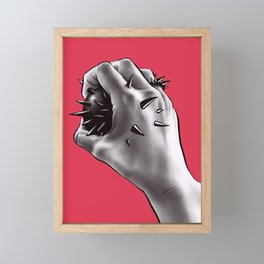 Painful Experiment With Stabbed Hand   Horror Art Framed Mini Art Print