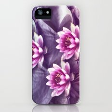 Waterlilies purple Slim Case iPhone (5, 5s)