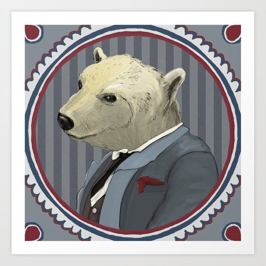 Mr. Polar Bear Art Print
