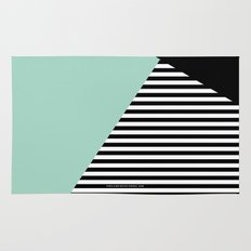 Mint Color Block with Stripes // www.penncilmeinstationery.com Rug