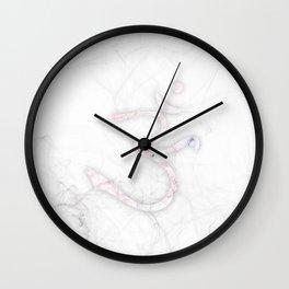 slender smoky om Wall Clock