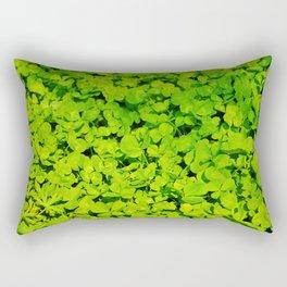 Green Clover Rectangular Pillow