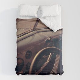 Vintage Blue Car Comforters