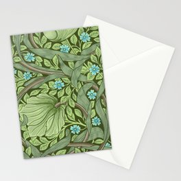 William Morris - Wallpaper Sample With Forget - Me - Nots Stationery Cards
