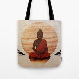 Buddha marquetry Tote Bag