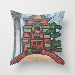 The Bathhouse Throw Pillow