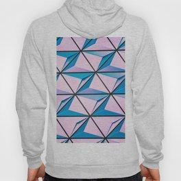 Pattern blue purple Hoody