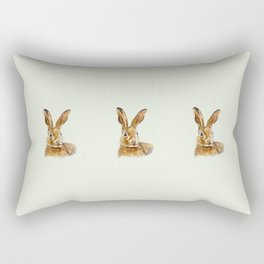 Mint hare I Rectangular Pillow