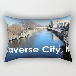 Traverse City, Michigan - Boardman River Rectangular Pillow