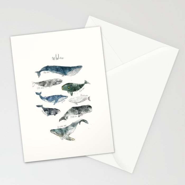 Whales Stationery Cards
