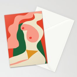 abstract nude 2 Stationery Cards