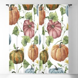 PUMPKINS WATERCOLOR Blackout Curtain