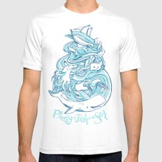 Plenty of Fish in the Sea White Mens Fitted Tee SMALL