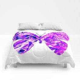 Fluid Butterfly (Violet Version) Comforters