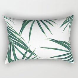 Green Palm Leaves Dream #2 #tropical #decor #art #society6 Rectangular Pillow