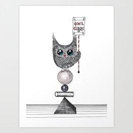 Owl Circus Art Print