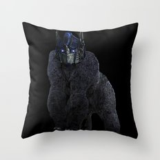 Optimus Primate Throw Pillow