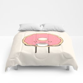 donut loves coffee Comforters