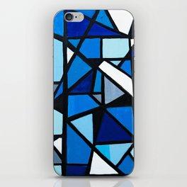 Blue Geometric iPhone Skin