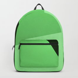 Four shades of green. Backpack