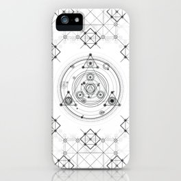 Sacred geometry and geometric alchemy design iPhone Case