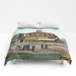 Vintage Egypt, port Said Commerce Street Comforters