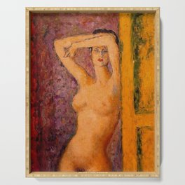 Summer in Paris, Female Portrait by Arturo Souto Serving Tray