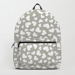 Gray Hearts Repeated Pattern 113 Backpack