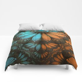 Shikoba Fractal -- Beautiful Leather, Feathers, and Turquoise Comforters