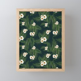 Gloomy Jungle Pattern #society6 #decor #buyart Framed Mini Art Print
