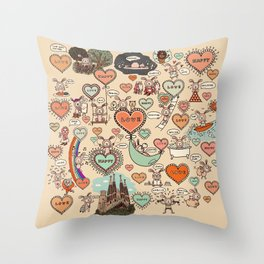 Do what makes you happy -Vintage Throw Pillow