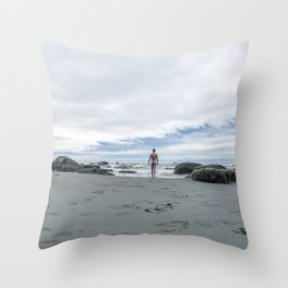 Nude to the Sea Throw Pillow