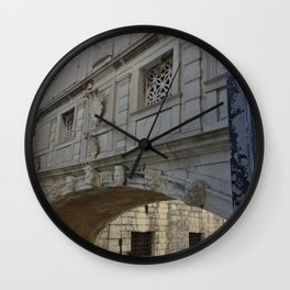 Bridge of Sighs, Doge's Palace, Venice, Italy Wall Clock