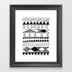 Rivers & Robots Pattern Framed Art Print