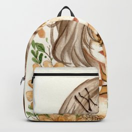 Zodiac sign- Leo Watercolor paint Backpack