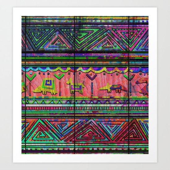 Cobertor Nativ Art Print