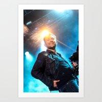 gorillaz Art Prints featuring Damon Albarn (Blur) - II by Tomás Correa Arce (RockMe TommyBoy)