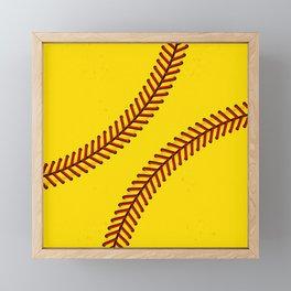 Fast Pitch Softball Framed Mini Art Print