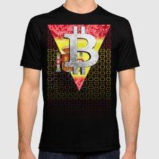 bitcoin spain Black Mens Fitted Tee MEDIUM