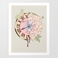 Il y a Beauté dans le Temps (There is Beauty in Time) Art Print