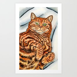 Ginger Cat Art Print