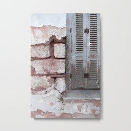 Walls and Windows Metal Print