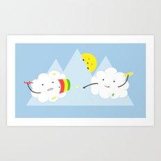 Cloud Fight Art Print