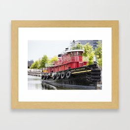 Old Boat in Montreal Framed Art Print